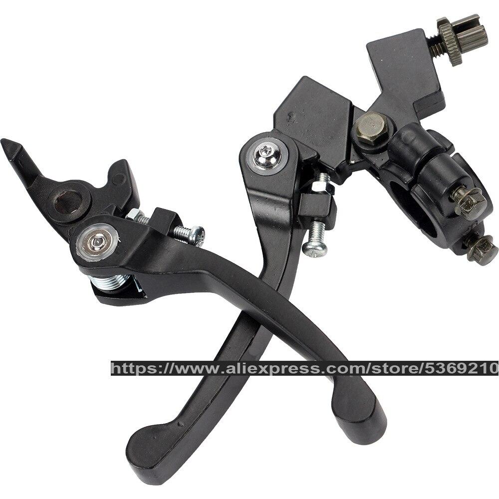Motorcycle 22mm 7/8 Aluminum Handlebar Clutch Brake Lever for 50-250cc Pit Dirt Bike Pitbike Motorbike ATV