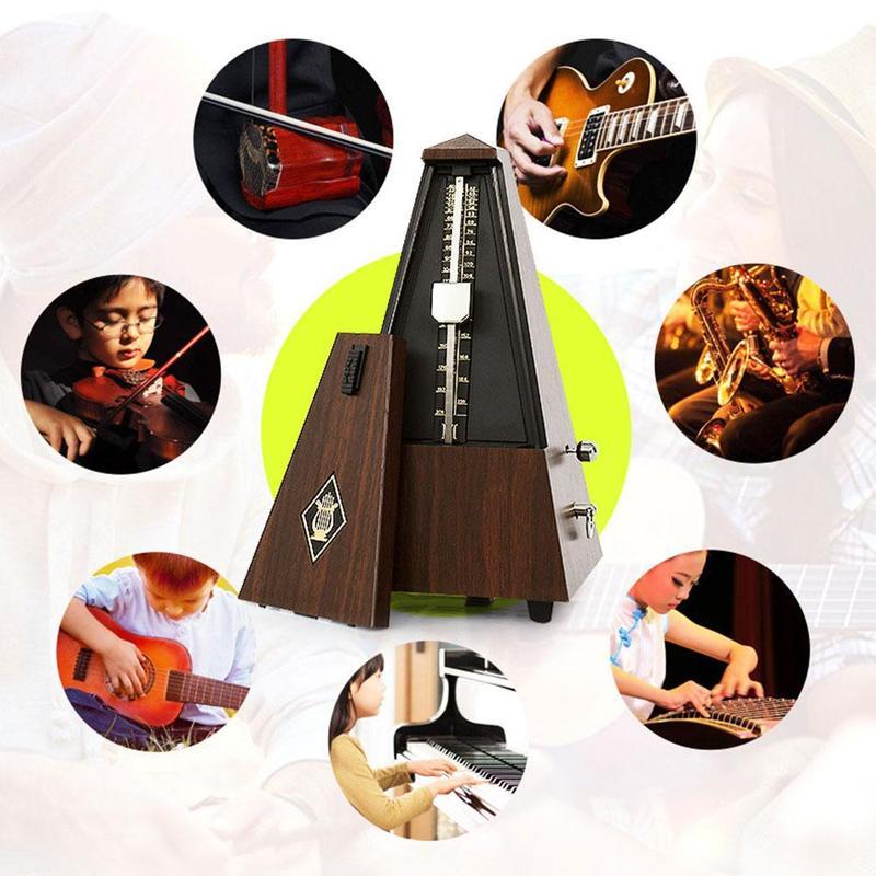 Guitar Mechanical Metronome Retro Style Flanders Tower Mechanical Metronome Guitar Piano Guzheng Erhu Universal Rhythm