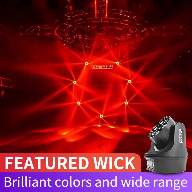 6 Eyes Bee Light Moving Head Beam Light Stage Lights Beam Light Laser Light Disco DJ Light Show for Party Wedding Bar Christmas