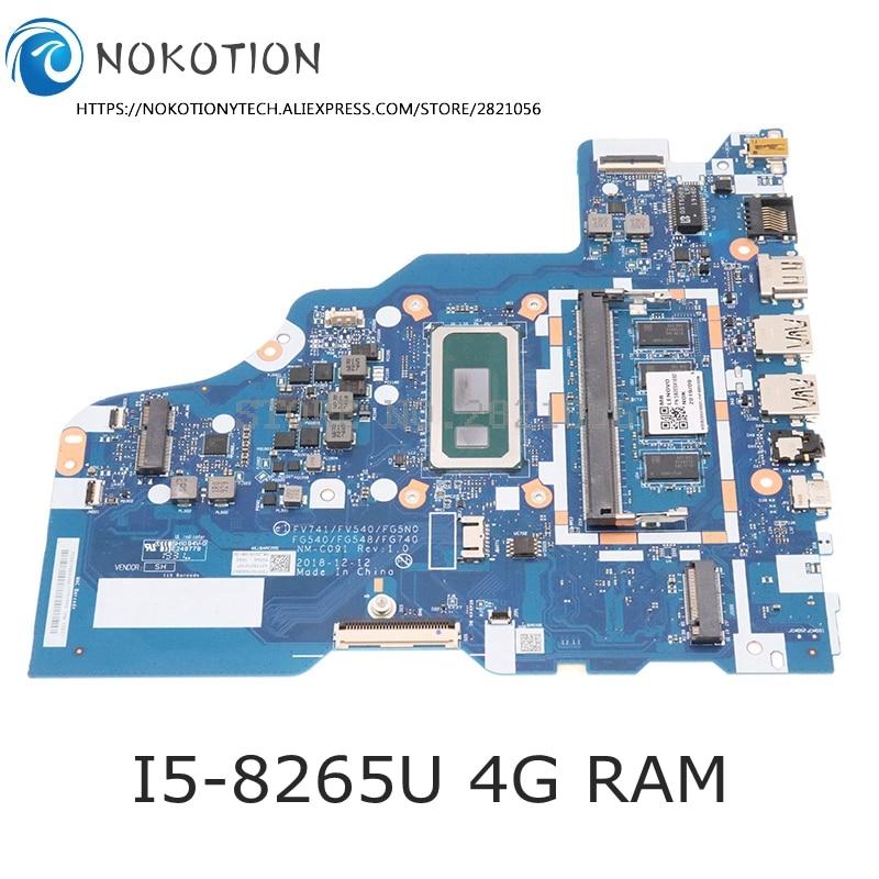 [해외] Lenovo ideapad L340 NM-C091 17IWL 마더 보드 L340-15IWL 용 NOKOTION 5B20S41692 FV741 FV540 FG5N0 FG540