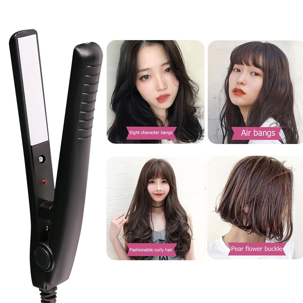 2 in 1 Mini Hair Straightener Curler Flat Iron Beauty Hair Styling Tools Portable Hair Straightening