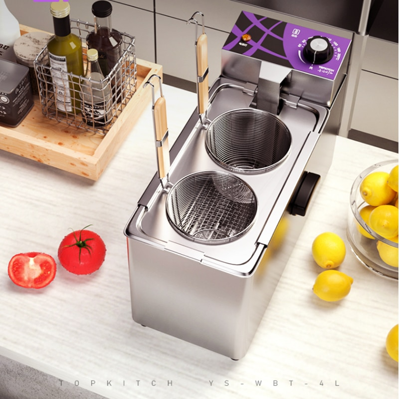 220V الكهربائية التجارية حار المعكرونة الطبخ وعاء الكهربائية الشعرية الحساء الطبخ الفرن