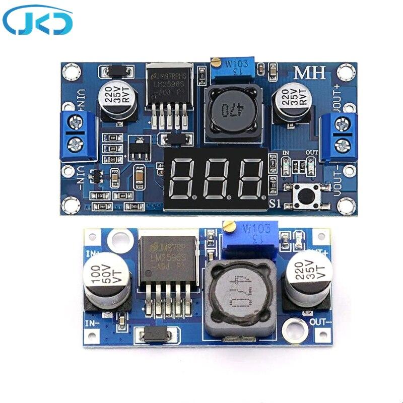 Adjustable POWER MODULE LM2596S DC-DC Buck Regulator Converter Reduced Voltage Regulator Power Module 24V 12V to 5V 2A mini 2a dc dc buck converter 3 3 5 5v to 3 3v module step down voltage regulator module