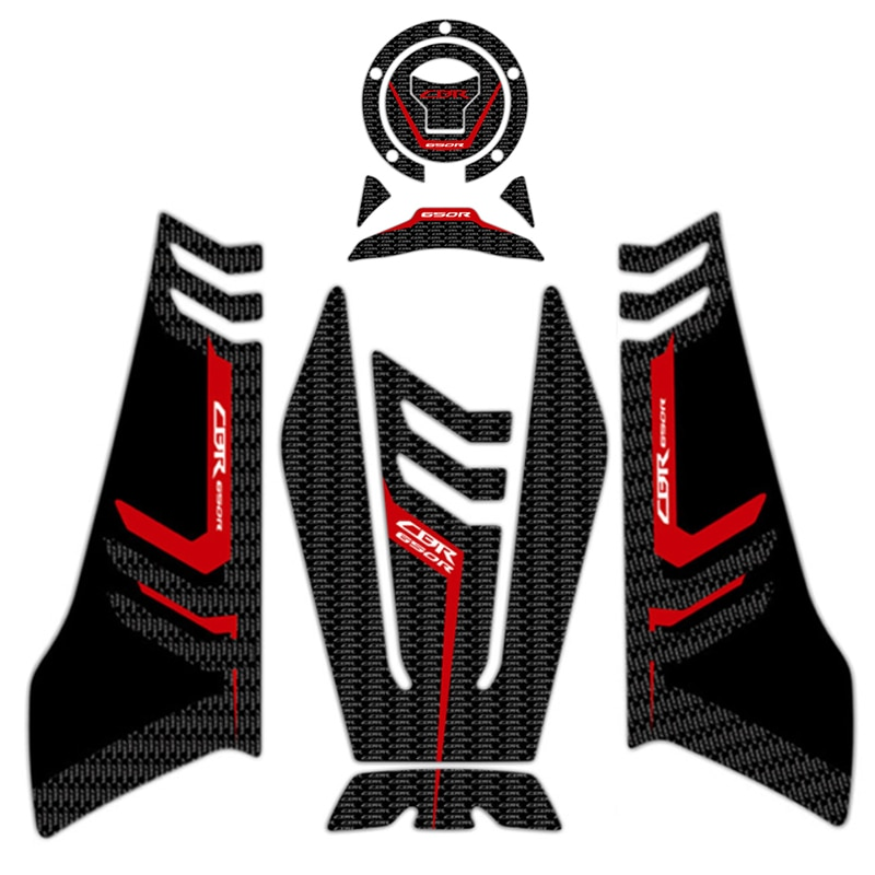 Pegatina de motocicleta 3D, pegatina de carbono, tapa de Gas, tanque, almohadilla de protección, pegatina, pegatinas para moto para HONDA CBR650R CBR 650R 2019