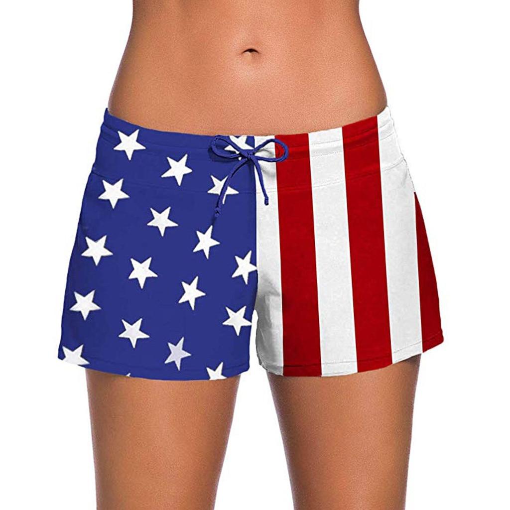 2020 sexy natação calças de banho para homem bandeira americana cintura alta tankini bottoms controle de barriga calças maiô natação