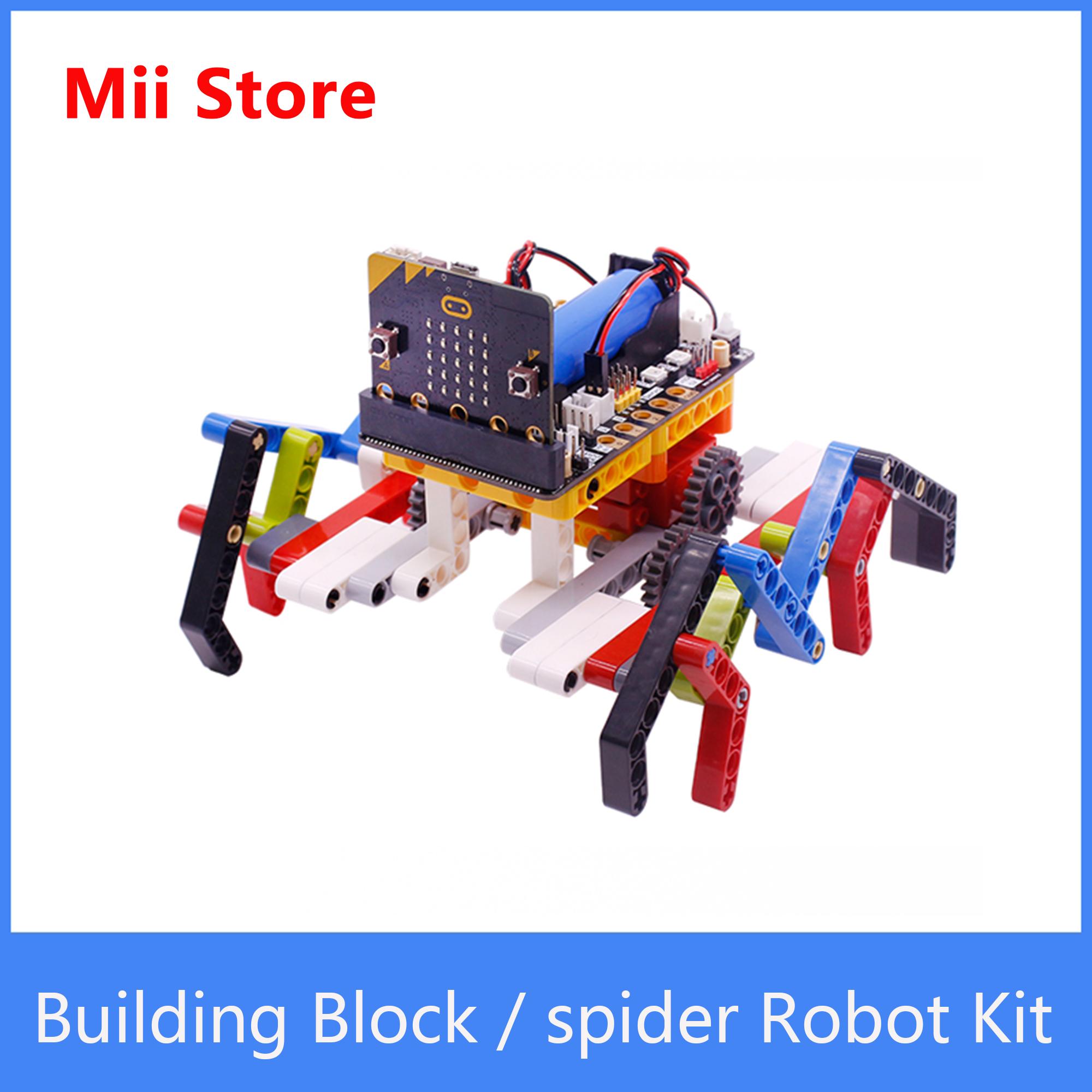 Yahboom بنة مايكرو: بت V2 الجذعية لتقوم بها بنفسك Hexapod روبوت العنكبوت روبوت عدة