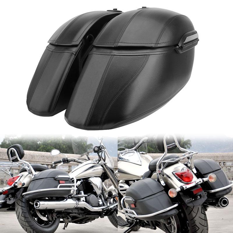 Универсальные мотоциклетные классические жесткие сумки, седельные сумки и сверхмощный монтажный комплект черного цвета для Harley Touring Softail Д...