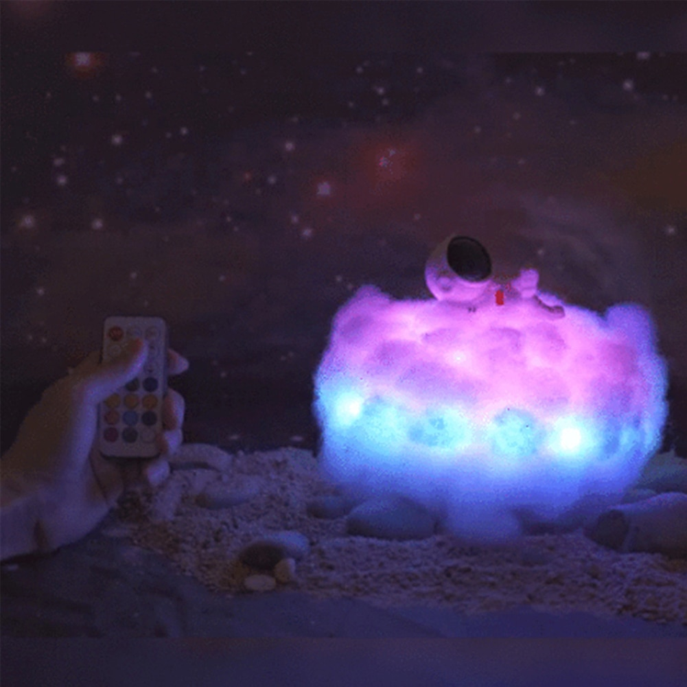 LED Colorful Cloud Astronaut Light with Rainbow Effect DIY Creative Night Light for Children's Birthday Gift Decoration Lighting enlarge