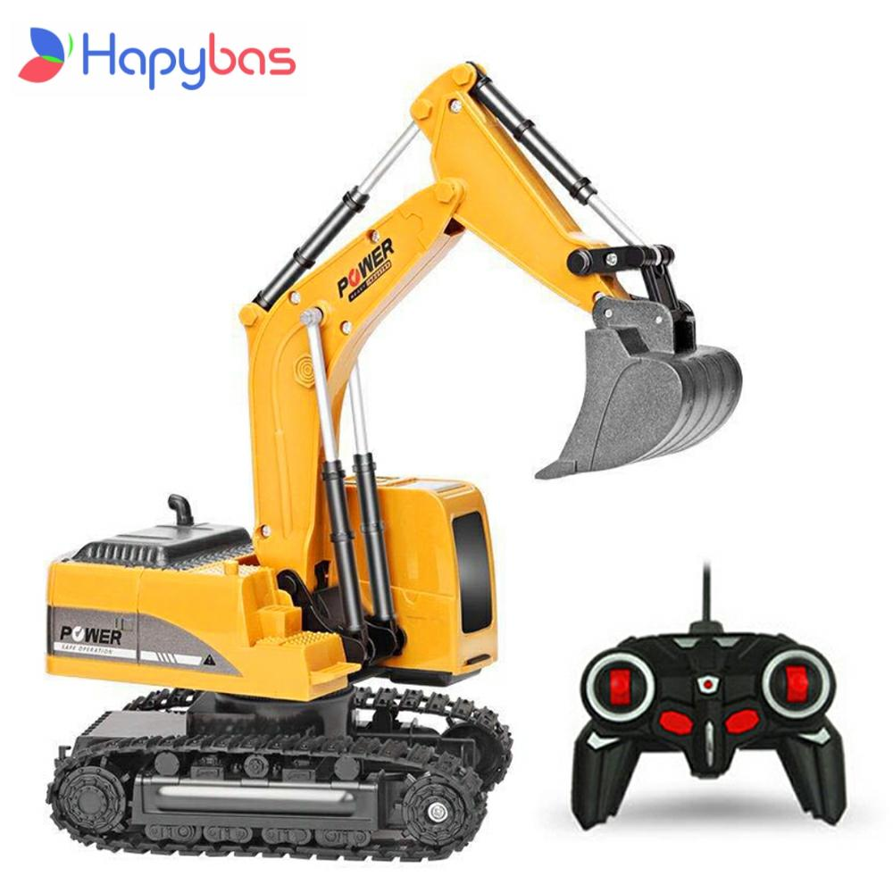 2.4Ghz 6 Channel 1:24 RC Excavator toy RC Engineering Car Alloy and plastic Excavator RTR For kids C