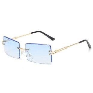 Rimless cut edge women's Sunglasses glasses women