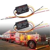 2pcs 10 30v car flasher module adapter flash strobe controller for led side marker brake light tail stop turn signal work light