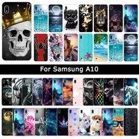 Caso di lusso Per Samsung Galaxy A10 UN 10 Molle Del Silicone TPU Del Fumetto Carino Patterned Copertura di Protezione Del Telefono Shell Casi Fundas coque