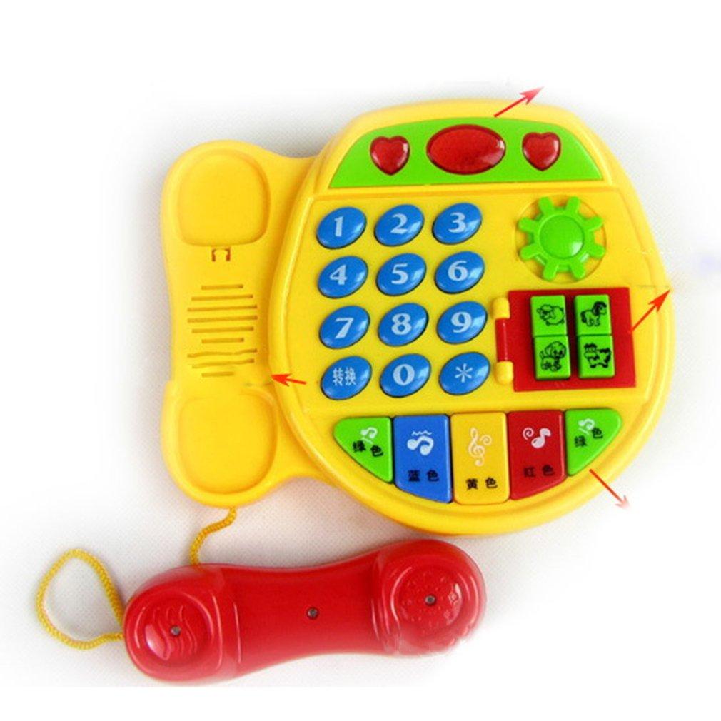 Botones de dibujos animados teléfono inteligencia educativa juguete de desarrollo regalo de los niños juguete de aprendizaje juguete interactivo