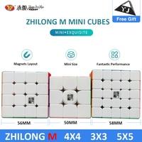 Original YJ Zhilong Mini 3x3 M 4x4 M 5x5 M Magnetic Speed Cubes Small Size YongJun Zhilong Magico Cube Puzzle Toys Magnetic Cube