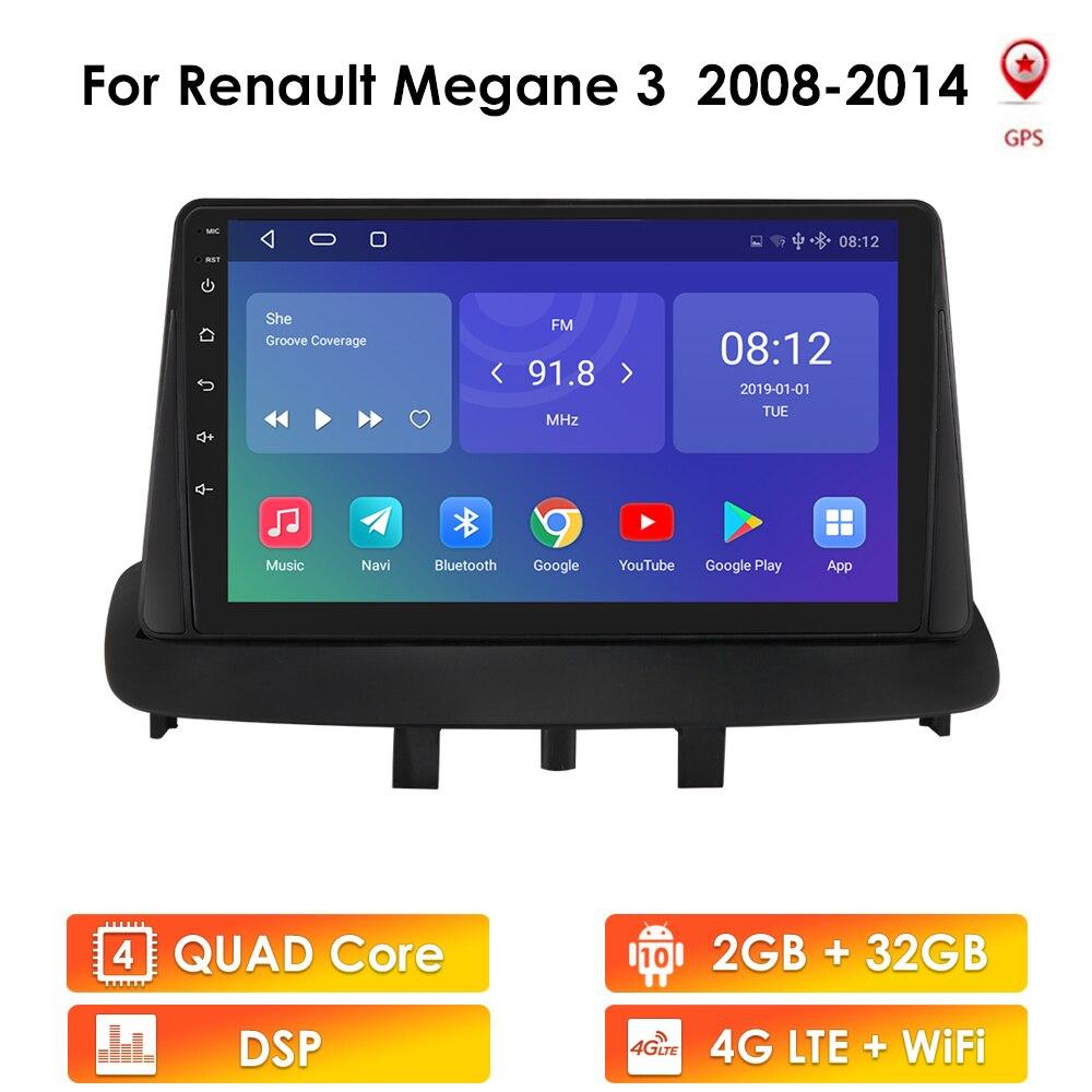 For Renault Megane 3 2008 - 2014 Car Radio Multimedia Video Player Navigation GPS Android No 2din 2 din dvd
