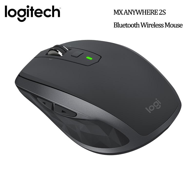 Logitech MX ANYWHERE 2S ratón inalámbrico Bluetooth 4000 DPI excelente Dual-ModeCross-Control de ordenador MX Anywhere2S negro para Pc