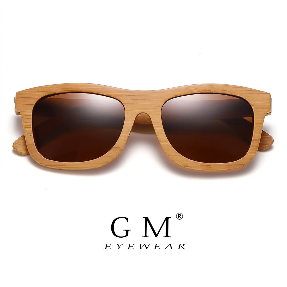 GM натуральные деревянные солнечные очки ручной работы поляризованные зеркальные модные бамбуковые очки спортивные очки S1725