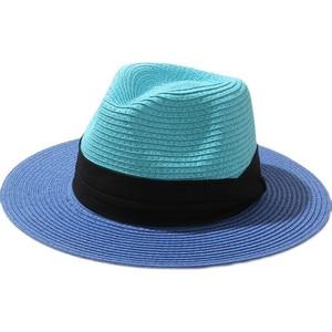Patchwork Retro sun hat women seaside flat brim wide-brimmed hat men summer sunshade beach hat sunscreen holiday sun hat