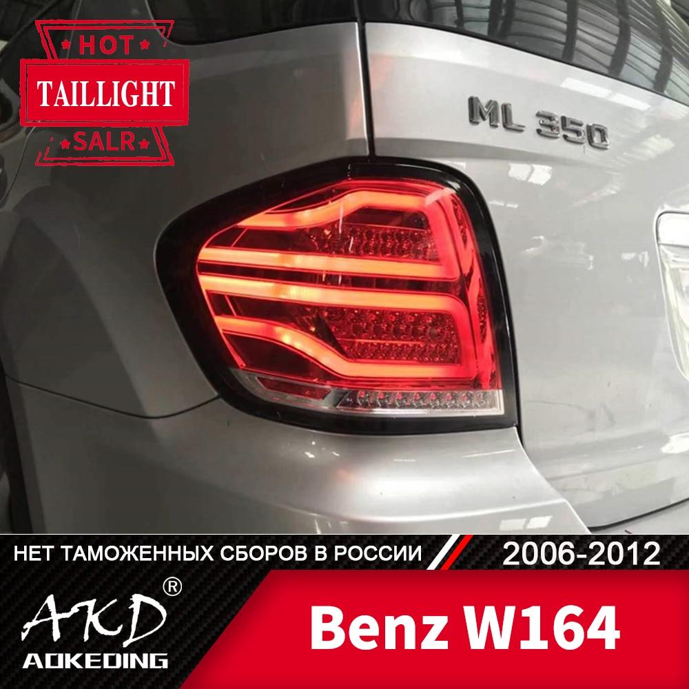 Lámpara trasera para coche Benz W164 2006-2012 ML350 ML400 ML500 luces traseras LED antiniebla luz diurna DRL Tuning Car accesorios