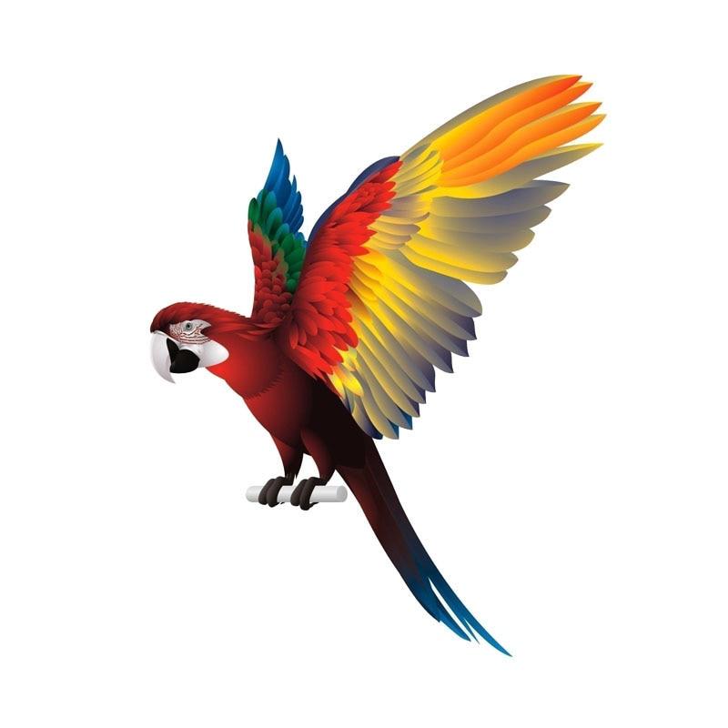 Автомобильные наклейки, цветной попугай, Водонепроницаемый личность, подходит для окна покрытие с защитой от царапин наклейки из ПВХ, 16 см * ...