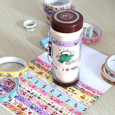 10pcs/pack Multi-color Tape Scrapbooking Masking Tape DIY Decorative Adhesive Tapes Paper Korean Stationery Sticker