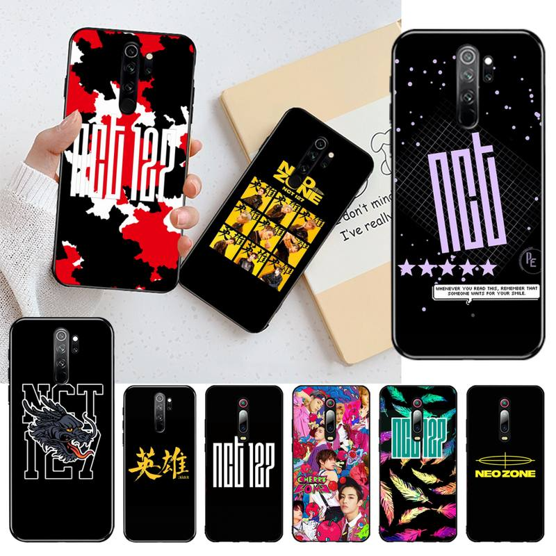 YJZFDYRM kpop NCT 127 Neo Zone DIY Gemalt Bling Telefon Fall für Redmi Hinweis 9 8 8T 8A 7 6 6A Gehen Pro Max Redmi 9 K20