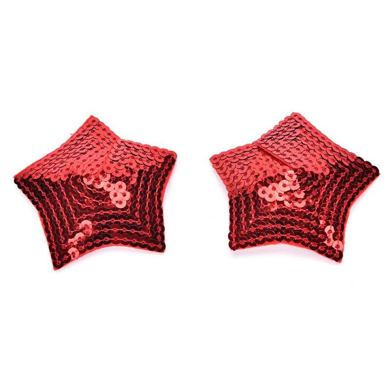 1 par mamilo capa pétalas de mama 3 cores adesivo mancha moda pasties estrela cruz lingerie adesivos acessórios