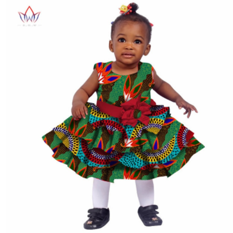 Stock Size Low Price Kids Dashiki Traditional Cotton Dresses Matching Africa Print Dresses Children Summer BRW WYT76 stock price puzzle