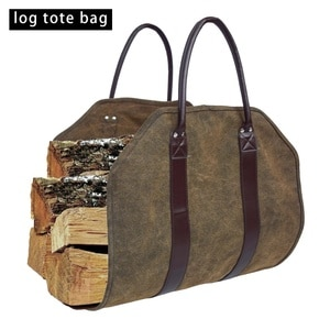 Durable Camping Carry Bag Canvas Log Tote Bag Carrier Indoor Fireplace Firewood Totes Holders Fire Wood Carriers Carrying New