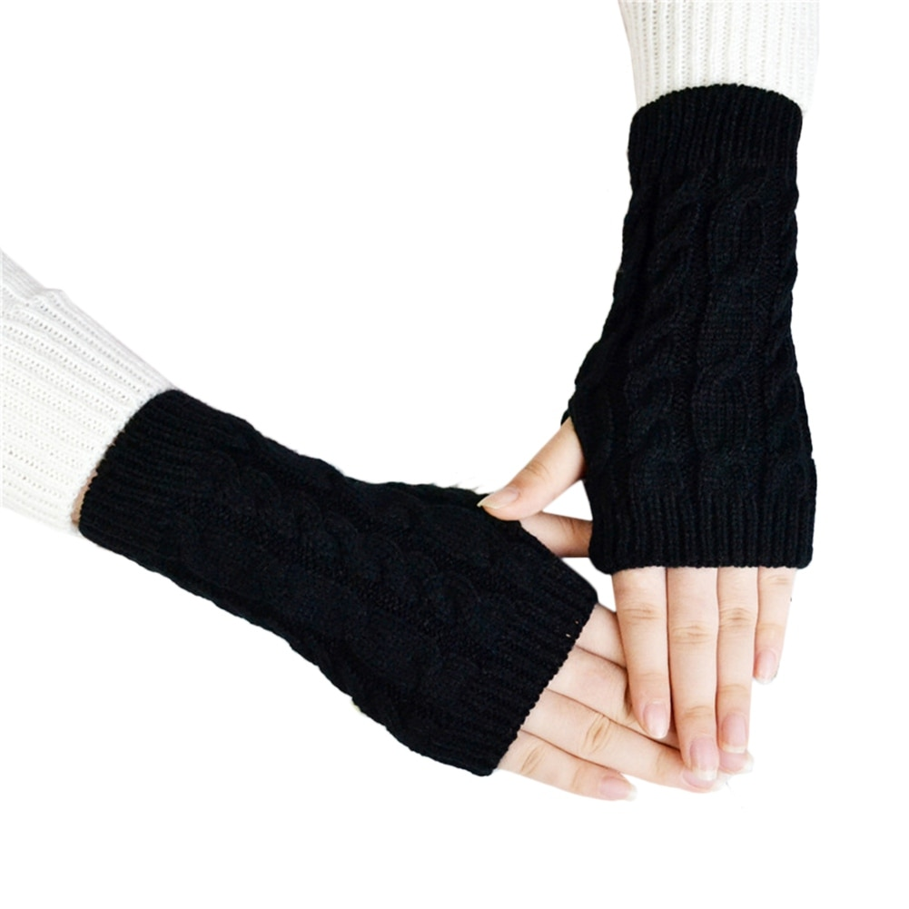 Half Finger Gloves Soft Warm Mittens Handschoenen Unisex Guantes Mujer Women Winter Soft Warm Wool K