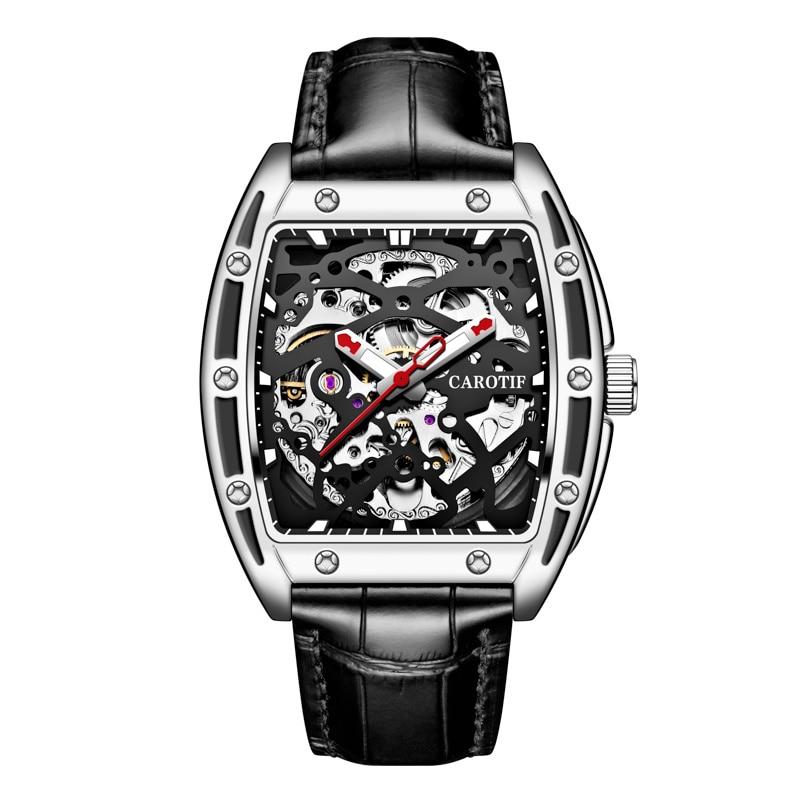 2021 New Luxury Men Mechanical Wristwatch Leather Watch Top Brand Men Watches Men's Automatic Mechan