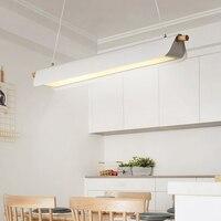 Office Pendant lights black creative simple modern Nordic industrial wind living room lamp restaurant lamp bar led lamps
