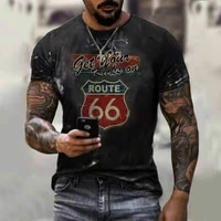 6 shiel european and american streets are very cool and beautiful short sleeved t shirt road letter printing t shirt no 66 stre