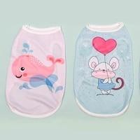 cute pet animal print vest thin breathable dog t shirt elastic cotton comfortable vest high quality fashion pet supplies
