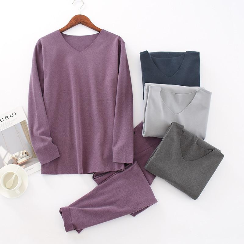 Мужские пижамы Осень зима теплая Пижама домашняя одежда мужские пижамы с длинным рукавом пижамы для сна и отдыха размера плюс L-3XL
