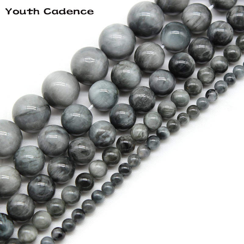 AAA Natural Eagle Eye Falcon Eye Stone Beads For Jewelry Making  Diy 4/6/8/10/12mm Round Spacer Beads Bracelets Accessories 15''