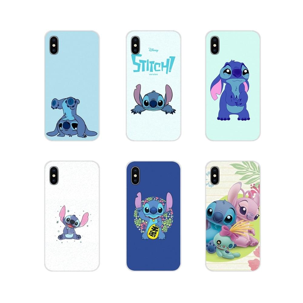 Silicone Phone Bag Case For Huawei G7 G8 P7 P8 P9 P10 P20 P30 Lite Mini Pro P Smart Plus 2017 2018 2019 Cute Cartoon Lilo Stitch