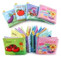 soft cloth books rustle sound infant books baby books quiet books educational stroller rattle toys for newborn baby 0 12 month