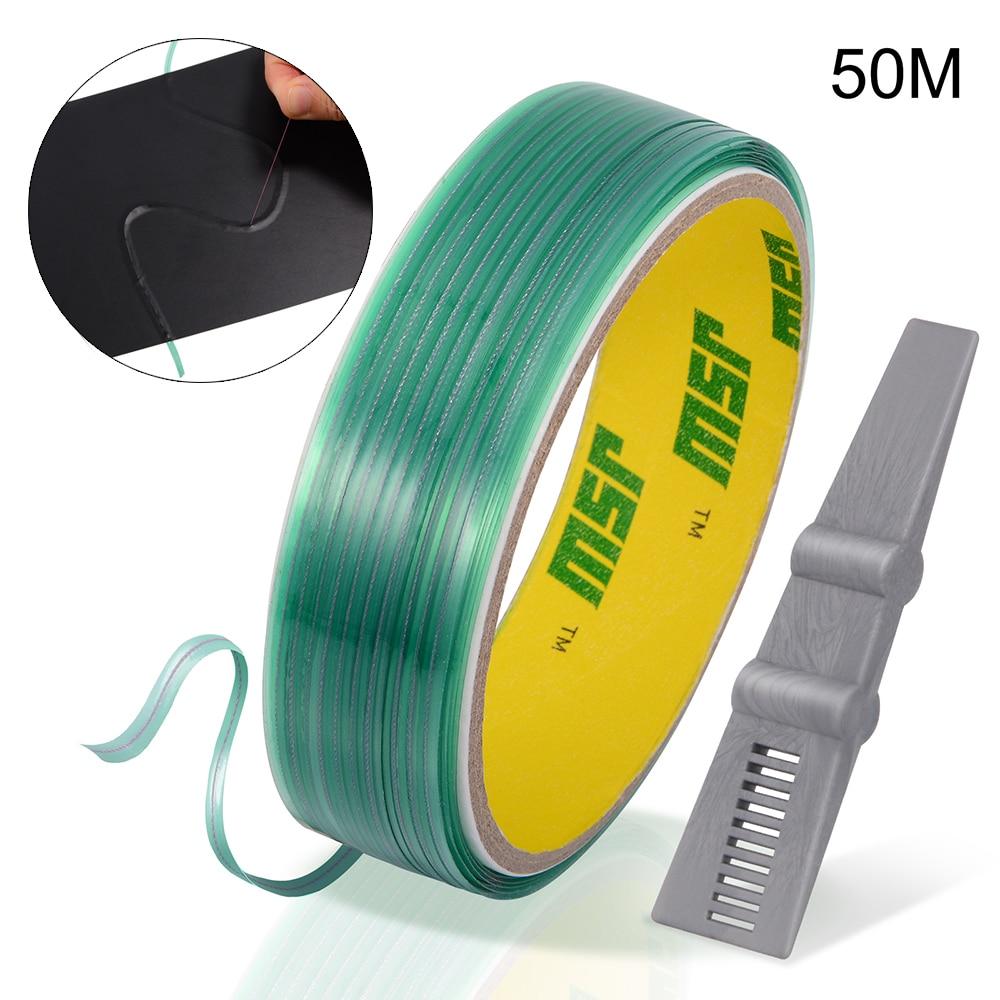 EHDIS 50M Wrap Film Knifeless corte de cinta suave rascador Squeegee Kit de herramientas de coche de fibra de carbono vinilo tintado PVC diseño Cortador de línea