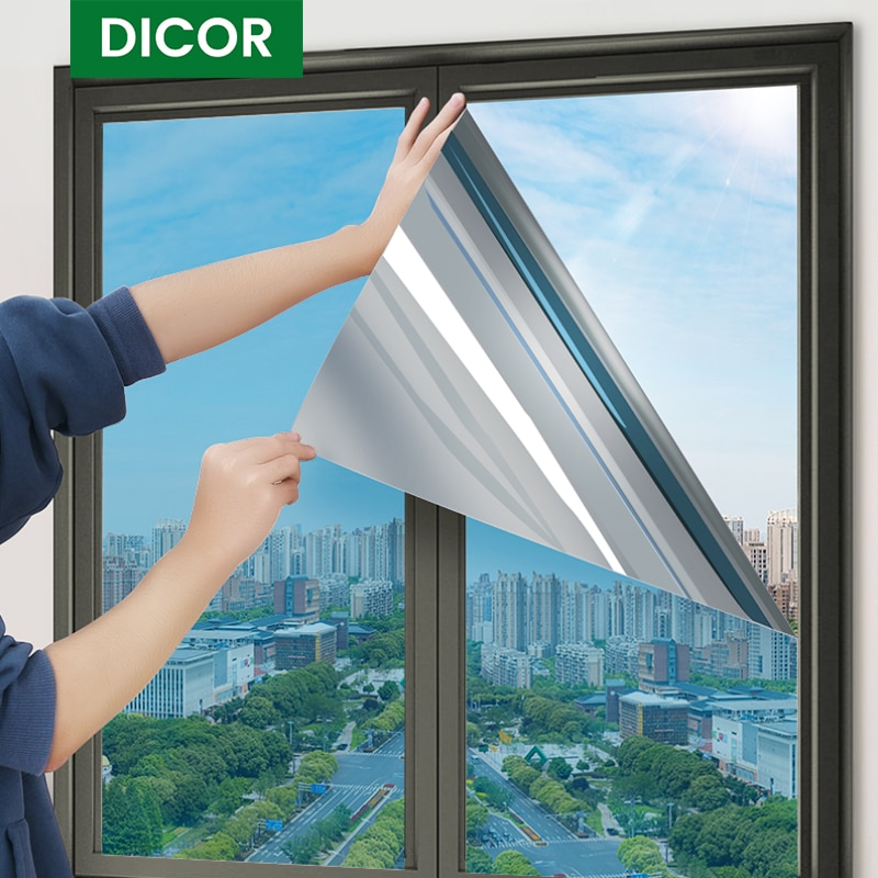 Glass Sticker Window Privacy,Mirror Insulation Solar Tint Window Film Stickers UV Reflective One Way Privacy Decoration