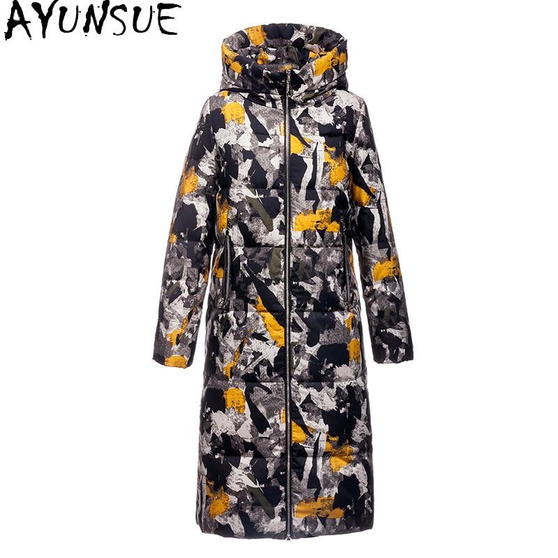AYUNSUE-Chaqueta de plumón para Mujer, Invierno 2020, chaqueta de plumón de pato,...