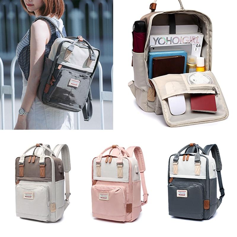 AliExpress - New Women Backpack Fashion Contrast Color Laptop Backpacks Travel Backbag Cute School Waterproof Rucksack bag For Student Girl
