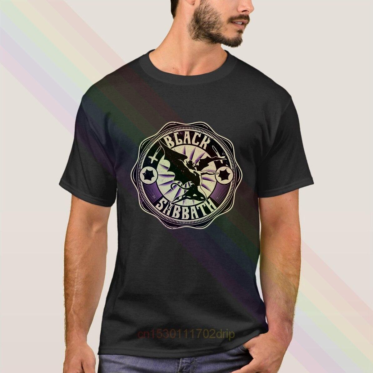 Camiseta negra con logotipo de Sabbath, novedad de 2020, camisetas populares de manga corta de verano para hombres, camisetas Unisex