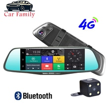 4G 8G Cal Android 5.1 samochód DVR Dash Cam samochód lusterko wsteczne Dash aparat z dwoma obiektywami nawigacja GPS Wifi bluetooth rejestrator