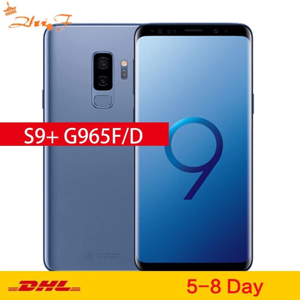 "Samsung Galaxy S9 Plus S9 + Duos G965FD 64GB ROM 6GB RAM Doble SIM original teléfono móvil Octa Core 6,2 ""Dual 12MP"
