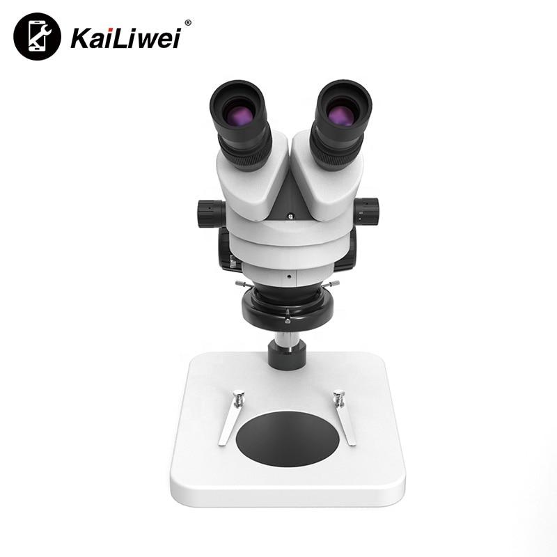 Kailiwei مايكرو لحام أداة مجهر التكبير مجهر ستيريو لإصلاح الهاتف المحمول مع الضوء