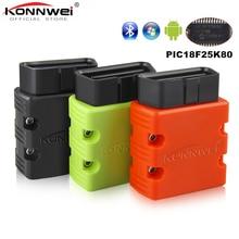 Автомобильный диагностический сканер KONNWEI Elm327 V1.5 Bluetooth KW902 OBD2 Elm 327 в 1,5 OBD 2 с чипом V1.5 PIC18F25K80 ELM327 на Android