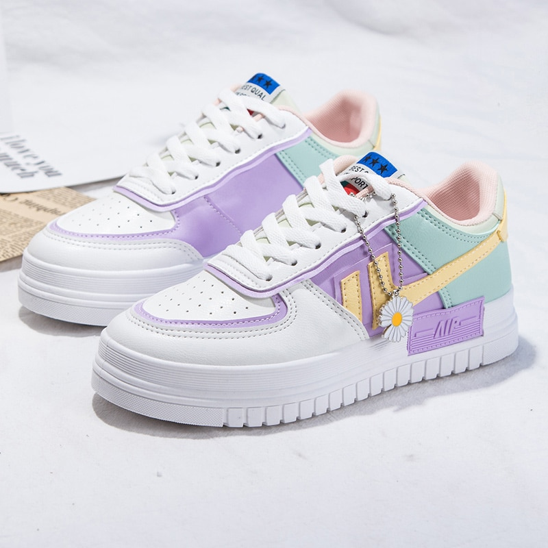 2021 Summer Women Sneakers White Tennis Women Shoes Canvas Slip on Female Row Shoes Platform Flats Casual Ladies Vulcanize Shoes