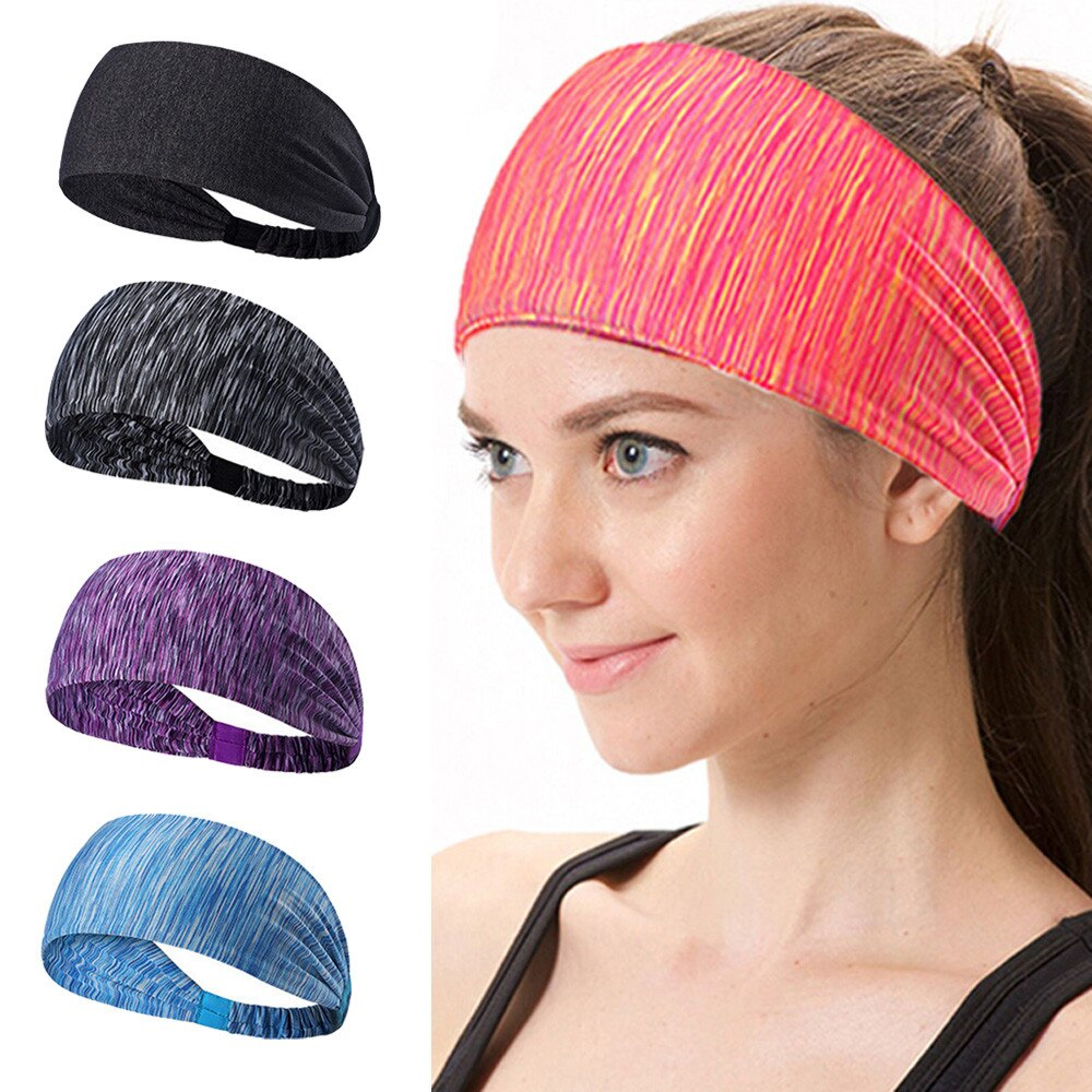Winter Warm Hair Band Outdoor Sports 2020 New  Women Cotton Knotted Turban Head Warp Hair Band Wide Elastic Headband Sport Yoga