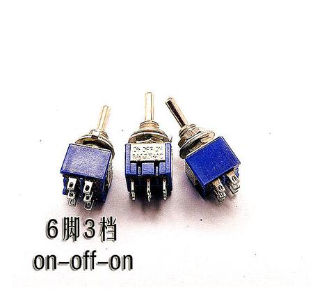 10pcs/lot Mini MTS-203 6-Pin ON-OFF-ON 6A 250V Toggle Switches Good Quality